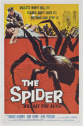 "Movie Posters:Horror, The Spider (American International, 1958). One Sheet (27"" X 41"")....."