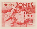 "Movie Posters:Sports, Bobby Jones in How I Play Golf (Warner Brothers, 1931). Lobby CardSet of 4 (11"" X 14"") Episode 4 ""The Mashie Niblick."". ... (Total: 4Items)"
