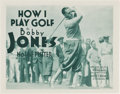 "Movie Posters:Sports, Bobby Jones in How I Play Golf (Warner Brothers, 1931). Lobby Card Set of 4 (11"" X 14"") Episode 1--""The Putter."". ... (Total: 4 Items)"