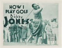 "Bobby Jones in How I Play Golf (Warner Brothers, 1931). Lobby Card Set of 4 (11"" X 14"") Episode 1--""The P..."