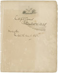 "Autographs:Authors, Charles Dickens Signed Page. One page, 6"" x 7.75"", March 14, 1842, Washington, D.C.. The note reads, ""Faithfully yours / ..."