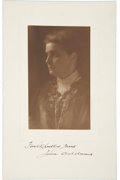 "Autographs:Authors, Jane Addams Signed Photograph, 6.5"" x 10.5"", sepia tone. The photo,signed in pencil by the photographer ""Water"", is ins..."