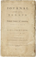 Books:Pamphlets & Tracts, Journal of the Second Session of the Senate of the United Statesof America, Begun and Held at the City of New York, January...