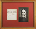 """Autographs:Authors, James Russell Lowell Autograph Poem Signed """"J. R. Lowell"""".One page, 4.25"""" x 4.75"""", June 17, 1881, n.p. This four-line p..."""