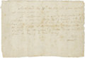 "Autographs:Statesmen, Reverend Isaac Story Autograph Document Signed for Lease of Slave.One page, 7.75"" x 5.25"", Marblehead, Massachusetts, May 2..."