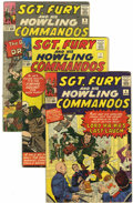 Silver Age (1956-1969):War, Sgt. Fury and His Howling Commandos #4, 7, and 8 Group (Marvel, 1963-64) Condition: Average VG+.... (Total: 5 Comic Books)