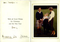 "Autographs:Celebrities, Prince Charles and Princess Diana Christmas Card Signed withOriginal Photograph. Heavy cardboard cardstock measuring 5"" x 7..."