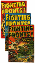 Golden Age (1938-1955):War, Fighting Fronts! #1-5 File Copy Group (Harvey, 1952-53) Condition:Average VF.... (Total: 5 Comic Books)