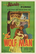 "Movie Posters:Horror, The Wolf Man (Realart, R-1948). One Sheet (27"" X 41"").. ..."