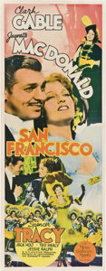 "Movie Posters:Romance, San Francisco (MGM, 1936). Insert (14"" X 36"").. ..."