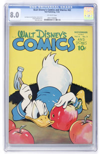 Walt Disney's Comics and Stories #62 (Dell, 1945) CGC VF 8.0 Off-white pages