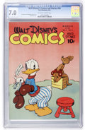 Golden Age (1938-1955):Cartoon Character, Walt Disney's Comics and Stories #54 (Dell, 1945) CGC FN/VF 7.0Off-white to white pages....