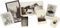 "Photography:Cabinet Photos, [Western] Group of Seven Images of the Old West, including; a 5"" x 8"" cabinet card of ""Mt. Of the Holy Cross"" on a W. H...."
