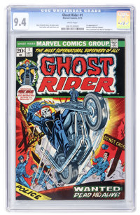 Ghost Rider #1 (Marvel, 1973) CGC NM 9.4 White pages