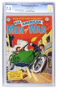 All-American Men of War #3 (DC, 1953) CGC VF- 7.5 Off-white to white pages