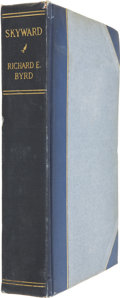 Autographs:Military Figures, Richard E. Byrd Signed Book with Fabric Samples, Skyward, by Commander Richard Evelyn Byrd, (New York: G. P. Put...