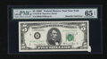 Error Notes:Attached Tabs, Fr. 1972-B $5 1969C Federal Reserve Note. PMG Gem Uncirculated 65EPQ.. ...