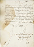 Autographs:Non-American, [Anglo-Spanish War] Prince Philip III of Spain Document Signed. Twodisbound pages with integral address leaf, written on re...