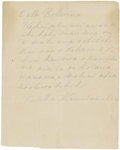 "Autographs:Military Figures, King Kamehameha Autograph Letter Signed. Two pages includingintegral address leaf, 6.25"" x 7.75"", n.p, [Lahaina, Maui], n.d..."