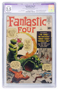 Silver Age (1956-1969):Superhero, Fantastic Four #1 (Marvel, 1961) CGC Apparent GD+ 2.5 Slight (A) Cream to off-white pages....