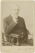 """Autographs:Statesmen, James G. Blaine Cabinet Card Signed, 4.25"""" x 6.5"""", October 8, 1892.A particularly attractive pose of the congressman, senat..."""