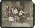 "Photography:Cabinet Photos, Ulysses Grant and Family Imperial Cabinet Card, 10"" x 8"", 1870, at Long Branch, New Jersey. The card pictures Grant and wife..."