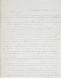"Autographs:Statesmen, [Abraham Lincoln] Anti-Lincoln Convention Autograph Letter. Two pages, two-sided, 8.25"" x 10.5"", Philadelphia, July 1, 1864...."