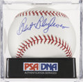 Autographs:Baseballs, Bert Blyleven Single Signed Baseball, PSA Mint+ 9.5....