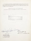 Movie/TV Memorabilia:Autographs and Signed Items, Lucille Ball Signed Contract....