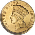 Three Dollar Gold Pieces, 1854-D $3 --Repaired, Improperly Cleaned--NCS. XF Details....