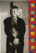 Music Memorabilia:Autographs and Signed Items, Paul McCartney Signed Tour Book....