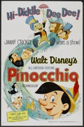 "Movie Posters:Animated, Pinocchio (Buena Vista, R-1962). One Sheet (27"" X 41""). Animated.. ..."