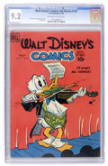 Golden Age (1938-1955):Cartoon Character, Walt Disney's Comics and Stories #114 (Dell, 1950) CGC NM- 9.2Off-white to white pages....