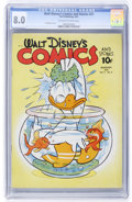 Golden Age (1938-1955):Cartoon Character, Walt Disney's Comics and Stories #23 (Dell, 1942) CGC VF 8.0 Off-white to white pages....