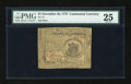 Colonial Notes:Continental Congress Issues, Continental Currency November 29, 1775 $1 PMG Very Fine 25....