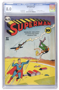 Superman #10 (DC, 1941) CGC VF 8.0 White pages