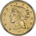 Territorial Gold, 1860 $5 Clark, Gruber & Co. Five Dollar--Reverse Repaired--NCS.AU Details....
