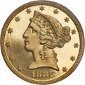 Proof Liberty Half Eagles, 1882 $5 PR63 Deep Cameo PCGS....