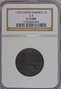 Large Cents, 1793 Chain 1C Periods Fine 15 NGC....