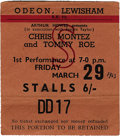 Music Memorabilia:Tickets, Beatles London Concert Ticket Stub - March 29, 1963. ...