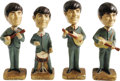 Music Memorabilia:Memorabilia, Beatles Car Mascot Bobbin' Head Figures (Car Mascots, Inc., 1964)....