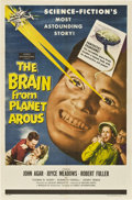 "Movie Posters:Science Fiction, The Brain from Planet Arous (Howco, 1957). One Sheet (27"" X 41"")....."