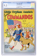 Golden Age (1938-1955):Adventure, Four Color #18 Little Orphan Annie's Junior Commandos (Dell, 1942) CGC NM- 9.2 Cream to off-white pages....