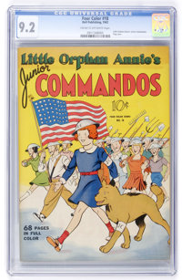 Four Color #18 Little Orphan Annie's Junior Commandos (Dell, 1942) CGC NM- 9.2 Cream to off-white pages