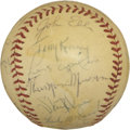 Autographs:Baseballs, 1970 New York Yankees Team Signed Baseball with Thurman Munson....