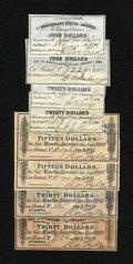 Confederate Notes:Group Lots, Confederate Bond Coupons. Eight Examples.. ... (Total: 8 notes)