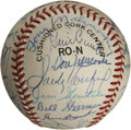 Autographs:Baseballs, Dodgers Multi Signed Baseball. ...