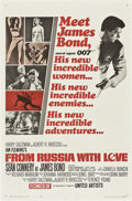 """Movie Posters:James Bond, From Russia with Love (United Artists, 1964). One Sheet (27"""" X 41"""") Style A.. ..."""
