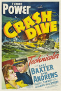 "Movie Posters:War, Crash Dive (20th Century Fox, 1943). One Sheet (27"" X 41"").. ..."