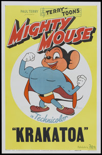 """Mighty Mouse (20th Century Fox, 1943). Stock One Sheet (27"""" X 41""""). Animated"""